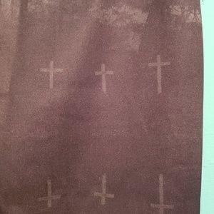 Cemetery & Cross Print Skirt